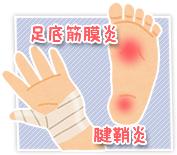 足底筋膜炎・腱鞘炎